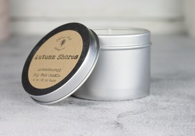 4 oz Aromatherapy Soy Wax Tin Candle with Essential Oils