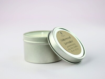 2 oz Aromatherapy Soy Wax Tin Candle with Essential Oils