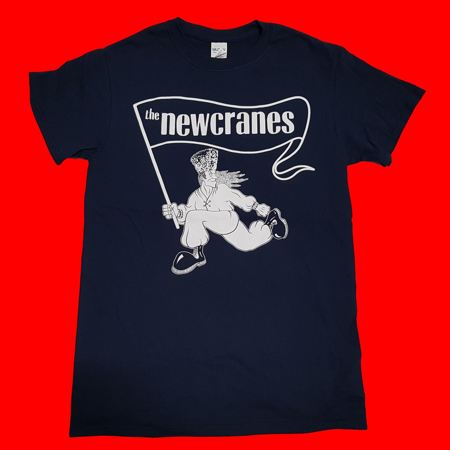 The Newcranes - Back To The Frontline 2019 T-shirt. Colour Navy.