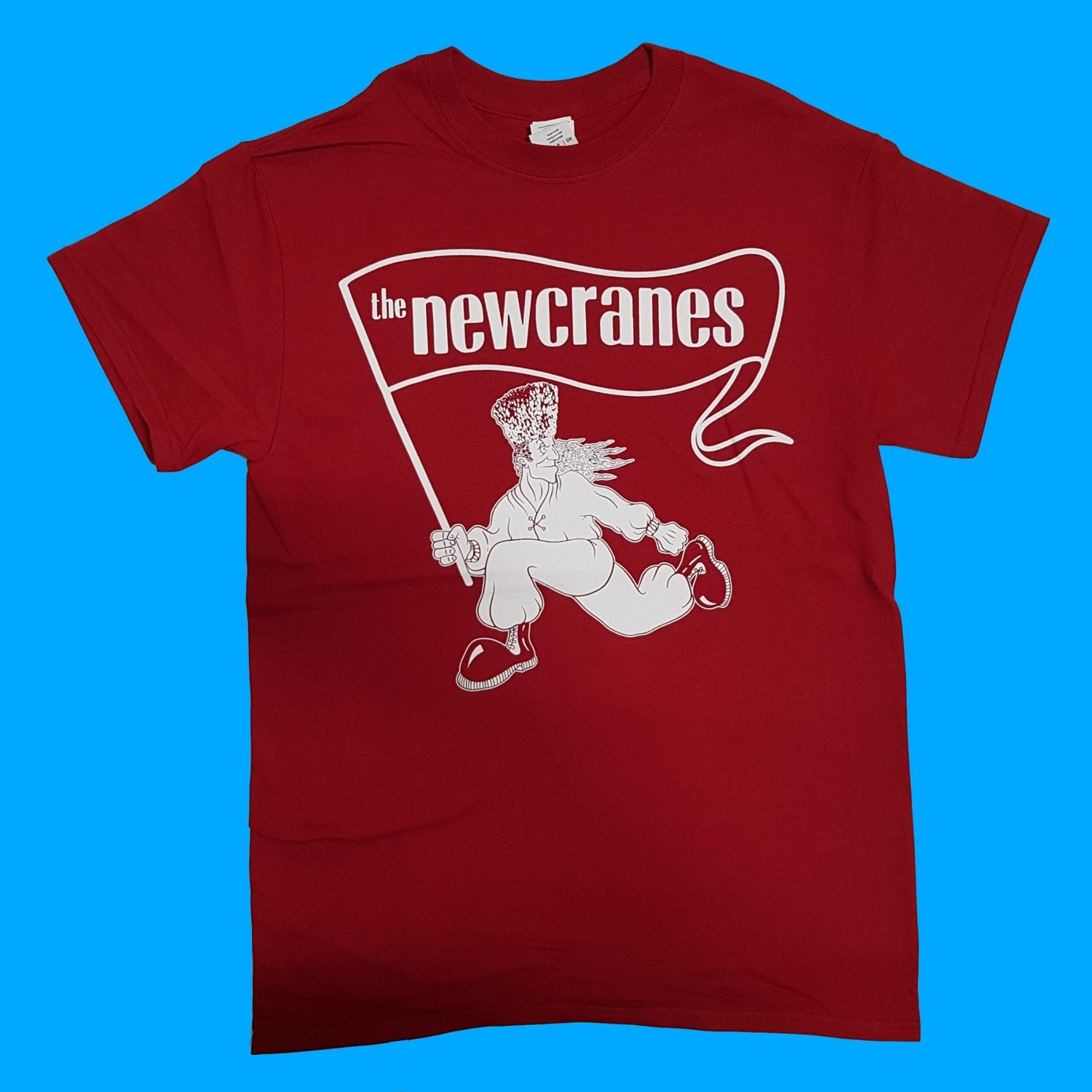The Newcranes - Back To The Frontline 2019 T-shirt. Colour Red Cardinal.