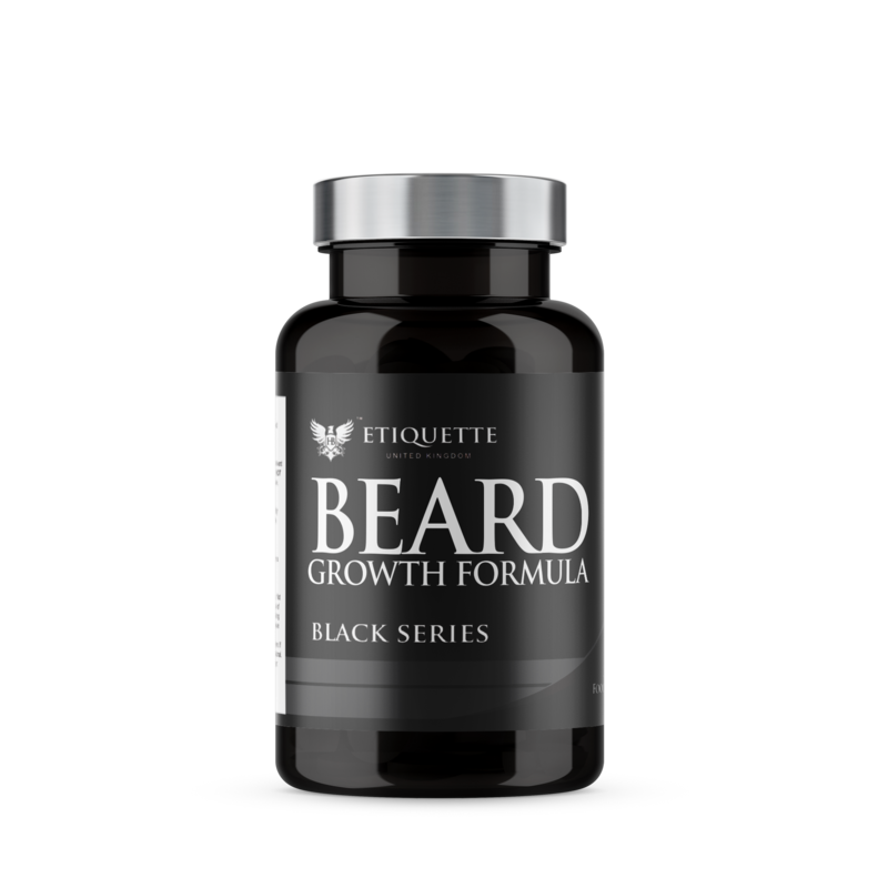 10 X Hairbond® Etiquette - Black Series - Beard (30x Majestic Beard Growth Capsules)