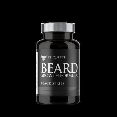 10 X Hairbond® Etiquette - Black Series - Beard (30x Majestic Beard Growth Capsules)