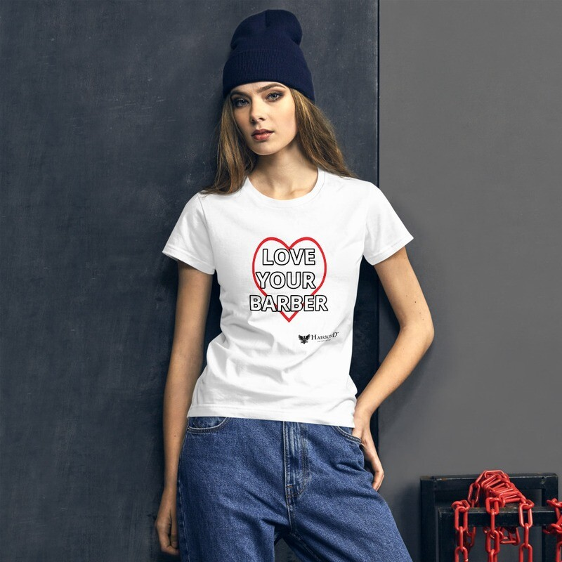 Hairbond® Love Your Barber Women's short sleeve t-shirt