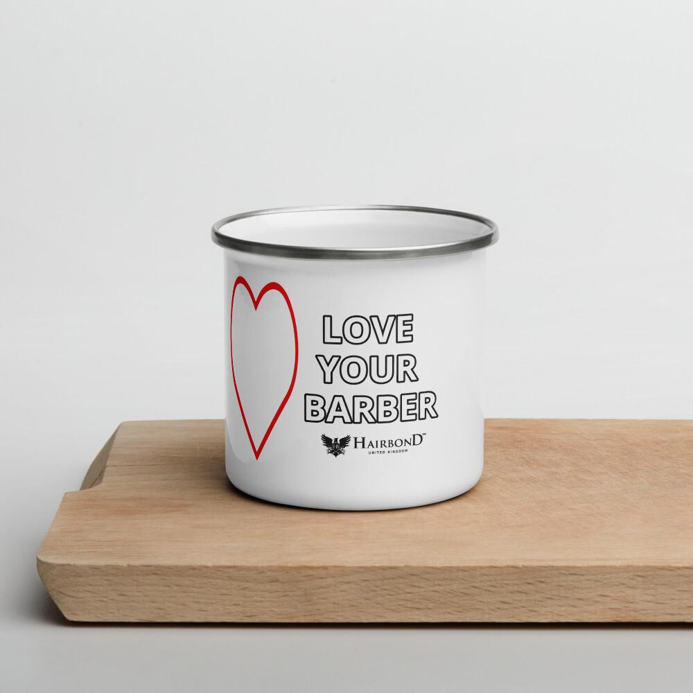 Hairbond® Love Your Barber Enamel Mug