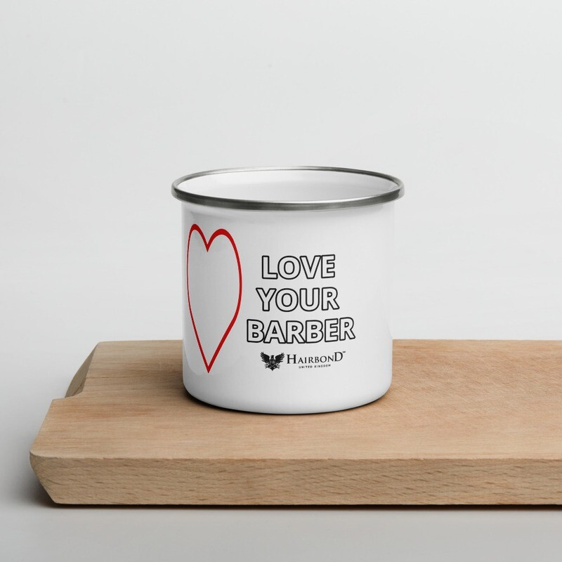 Hairbond® Love Your Barber Enamel Mug