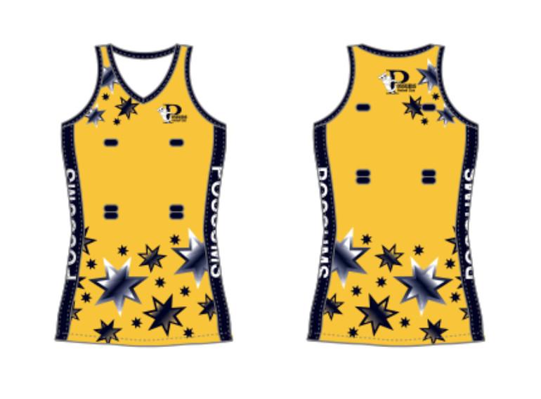 POSSUMS NETBALL DRESS