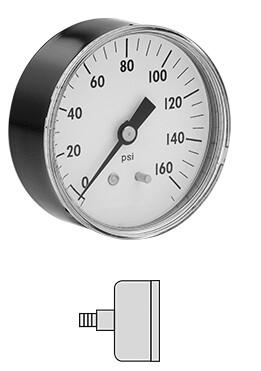 GAUGE-AIR,0-160 1/4'NPT