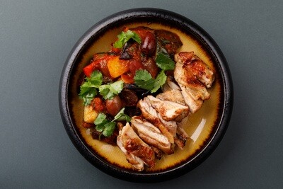 Цыпленок тандури с запеченными овощами