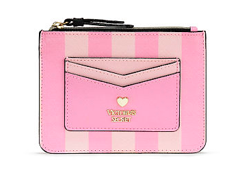 VICTORIA'S SECRET SIGNATURE STRIPE CARD CASE