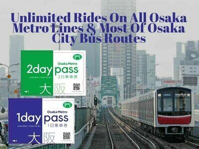 Osaka Metro Pass I 1 Day Pass I 2 Day Pass