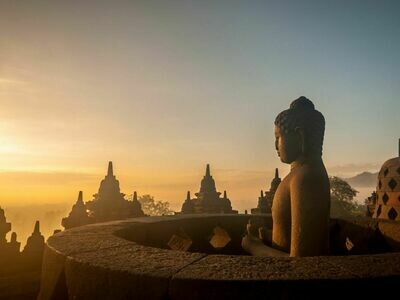 4D3N Amazing Sunrise Borabudur