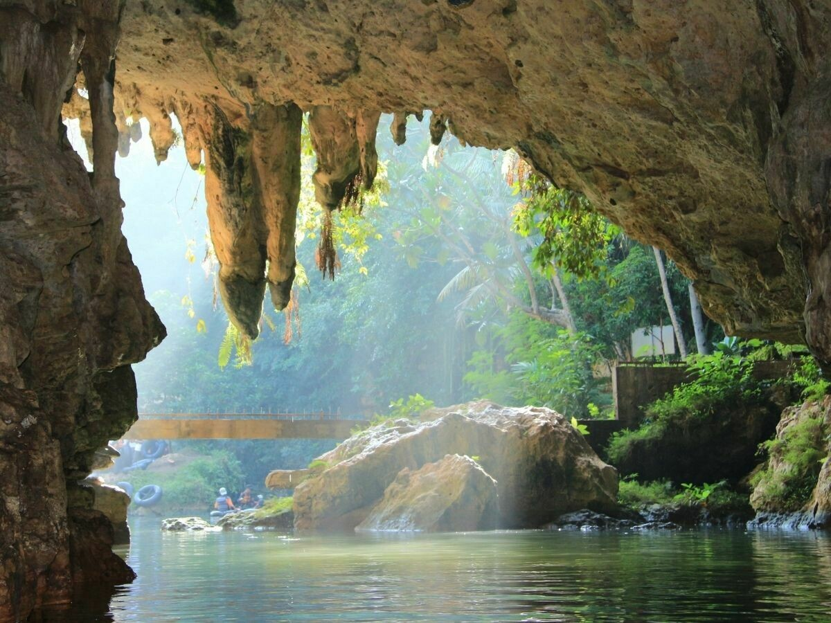 1D Tubing at Pindul Cave - Kukup Beach