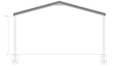 6M X 6M X 2.5M GABLE ROOF CARPORT – REG A TC3