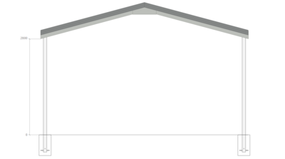 6M X 9M X 2.8M GABLE ROOF CARPORT – REG A TC3