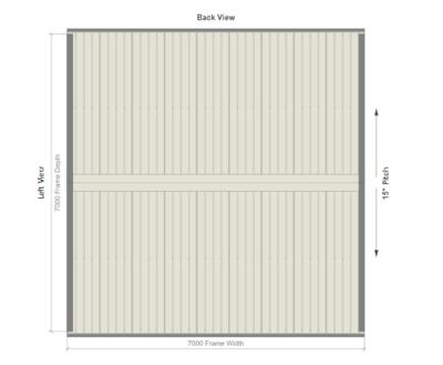 7M X 7M X 2.8M GABLE ROOF CARPORT – REG B TC2.5