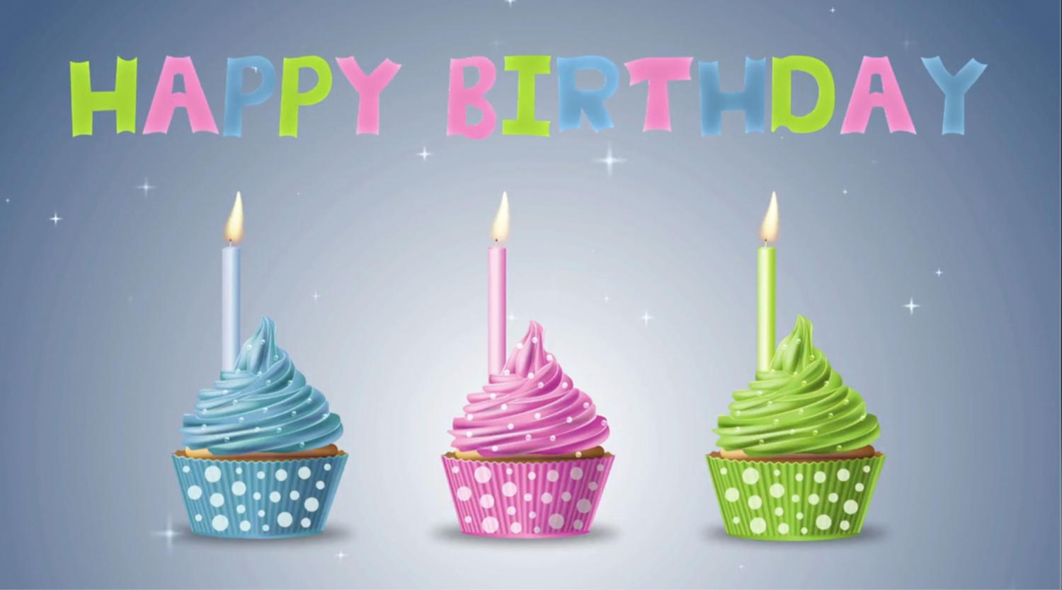 Birthday Cupcake Card (works with our app)