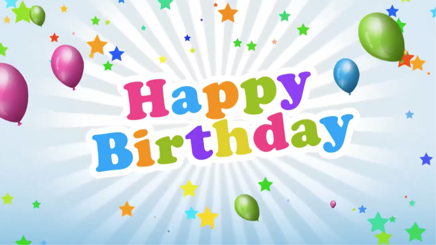 Birthday Balloons Card (works with our app)