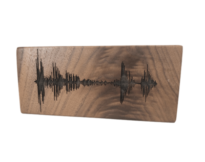Soundwave Art Solid Walnut