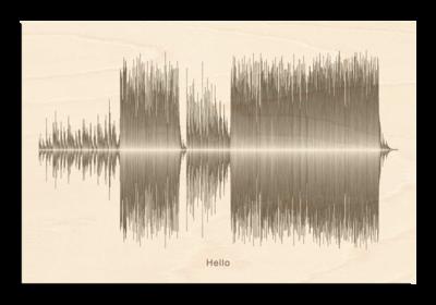 Adele Hello Soundwave Wood