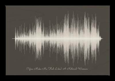 Aretha Franklin natural woman Soundwave Wood