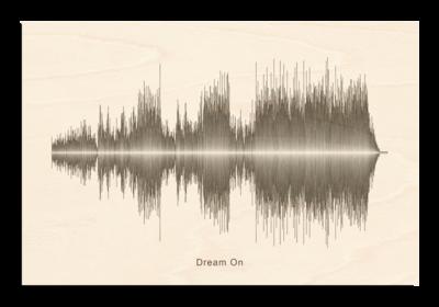 Aerosmith dream on Soundwave Wood