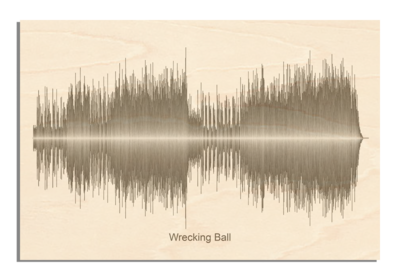 Bruce Springsteen - Wrecking Ball Soundwave Wood