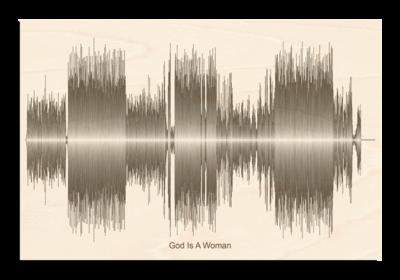 Ariana Grande god is a woman Soundwave Wood
