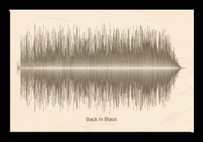 AC/DC Back In Black Soundwave Wood