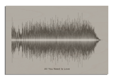 Beatles all you need is love Soundwave Wood