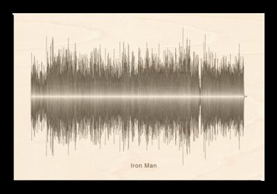 Black Sabbath - Iron Man Soundwave Wood