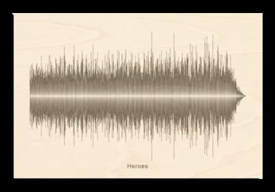 David Bowie Heroes Soundwave Wood