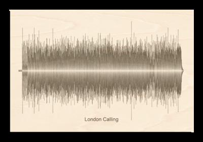 Clash - London Calling Soundwave Wood