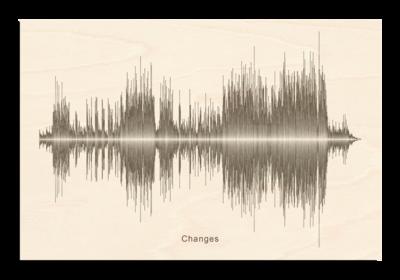 David Bowie - Changes Soundwave Wood