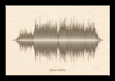 David Bowie - Space Oddity Soundwave Wood