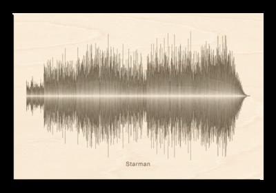 David Bowie - Starman Soundwave Wood
