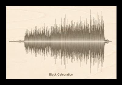 Depeche Mode Black Celebration Soundwave Wood