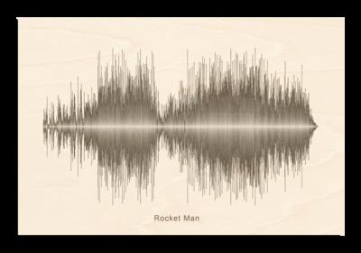 Elton John - Rocket Man Soundwave Wood