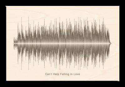 Elvis Presley - Can't help falling in love Soundwave Wood