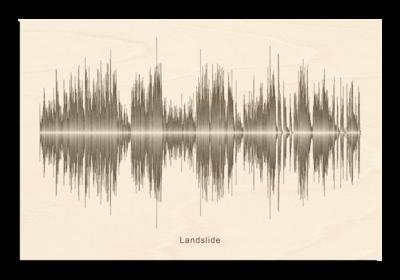 Fleetwood Mac - Landslide Soundwave Wood