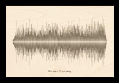 Fleetwood Mac - Go your own way Soundwave Wood