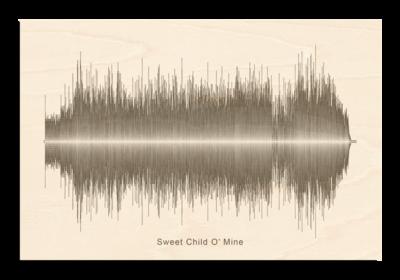 Guns N Roses - Sweet Child O' Mine Soundwave Wood