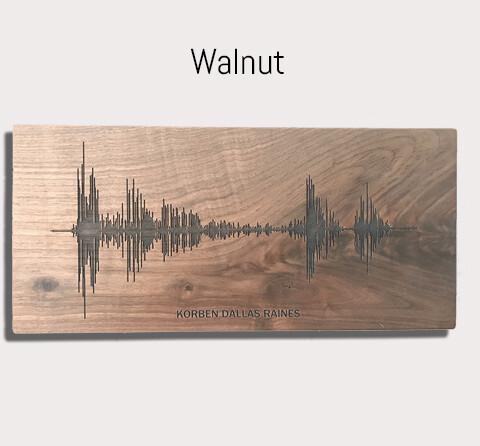 Any song turned into Art - Walnut or Barn wood