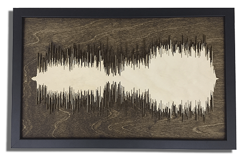 Any song turned into Art - Layered Wood