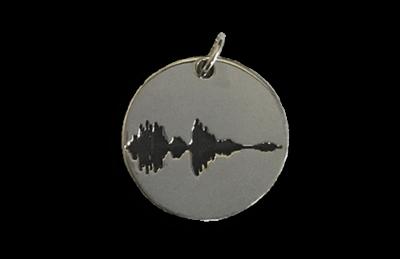 Soundwave Circle Pendant