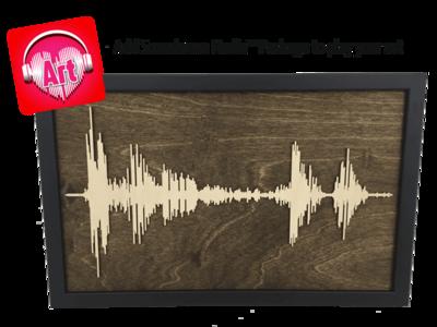 Soundwave Art Framed Wood Layered Cutout