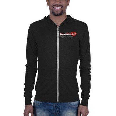 Soundwave Art™ Logo Unisex zip hoodie