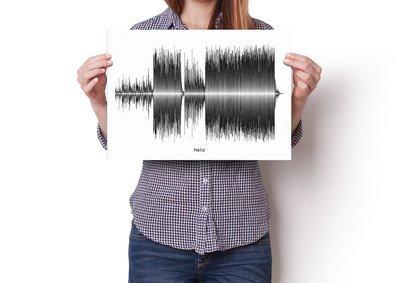 Adele - Hello Soundwave Poster