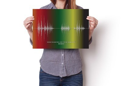 Bob Marley Quote Soundwave Poster