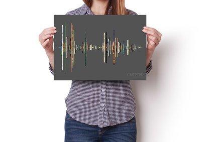 David Bowie Album Soundwave Poster
