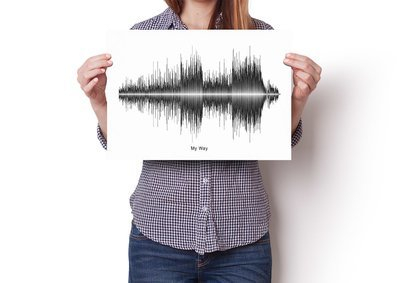 Frank Sinatra - My Way Soundwave Poster